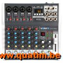 Vonyx VMM-K602 6-Kanaals Muziek Mixer met DSP
