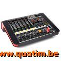 Power Dynamics PDM-M604A 6-Kanalen Studio Mixer met Versterk