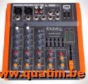 IBIZA sound MX401 COMPACTE 4-KANAALS MUZIEK MENGPANEEL
