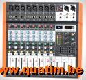 IBIZA sound MX802 8-KANALS MUZIEKMENGPANEEL MET USB & BLUETO