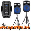 Vonyx VPS152A Plug & play 1000W Luidsprekerset met statieven
