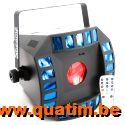 BeamZ CUB4-II LED Quad derby met moonflower