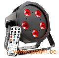 BeamZ BFP120 FlatPAR 5x 8W 4-in-1 LED's