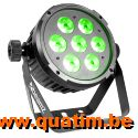 BeamZ BT270 LED Flat Par 7x6W 4-1 RGBW DMX IRC