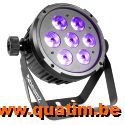 BeamZ BT280 LED Flat Par 7x10W 6-in-1 RGBAW-UV