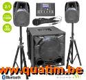IBIZA sound CUBE1100-BT 2.1 actief luidspreker systeem 700W